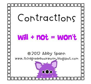 https://www.teacherspayteachers.com/Product/Creepy-Contractions-Flipchart-231393