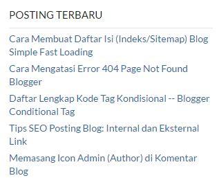 Posting Terbaru Blog