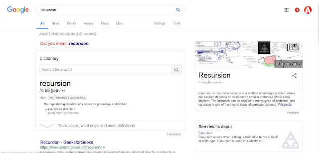 recursion google trick