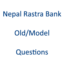Nepal Rastra Bank Old-Model Questions