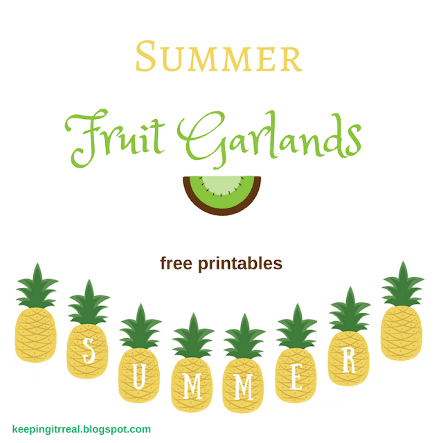 Summer Fruit Garlands - free printable