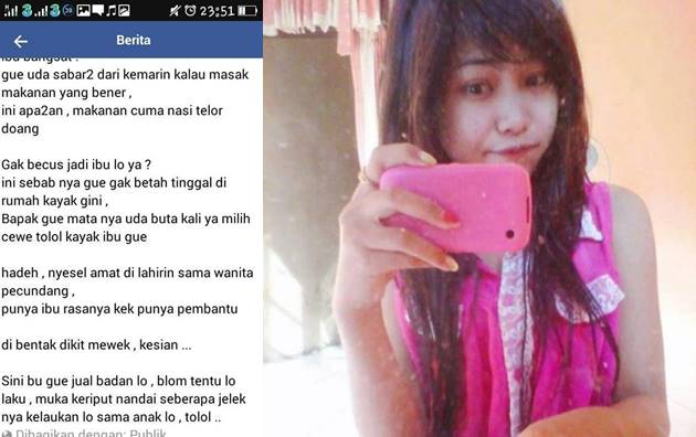 Anak Durhaka Ini Buat Status Menghina Ibunya di Facebook