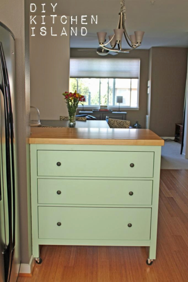 Repurposed Antique Dresser As A Kitchen Island With A: MountainMama: Repurposing An Old Dresser As A Kitchen Island