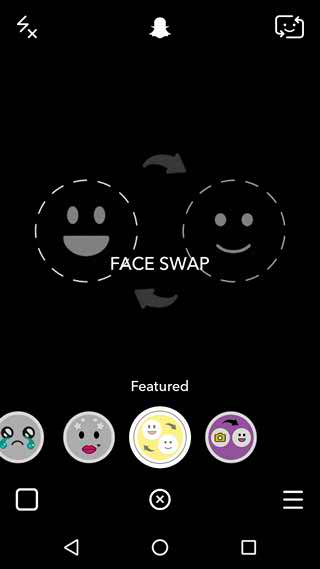 Snapchat Face Swap goal Real Time