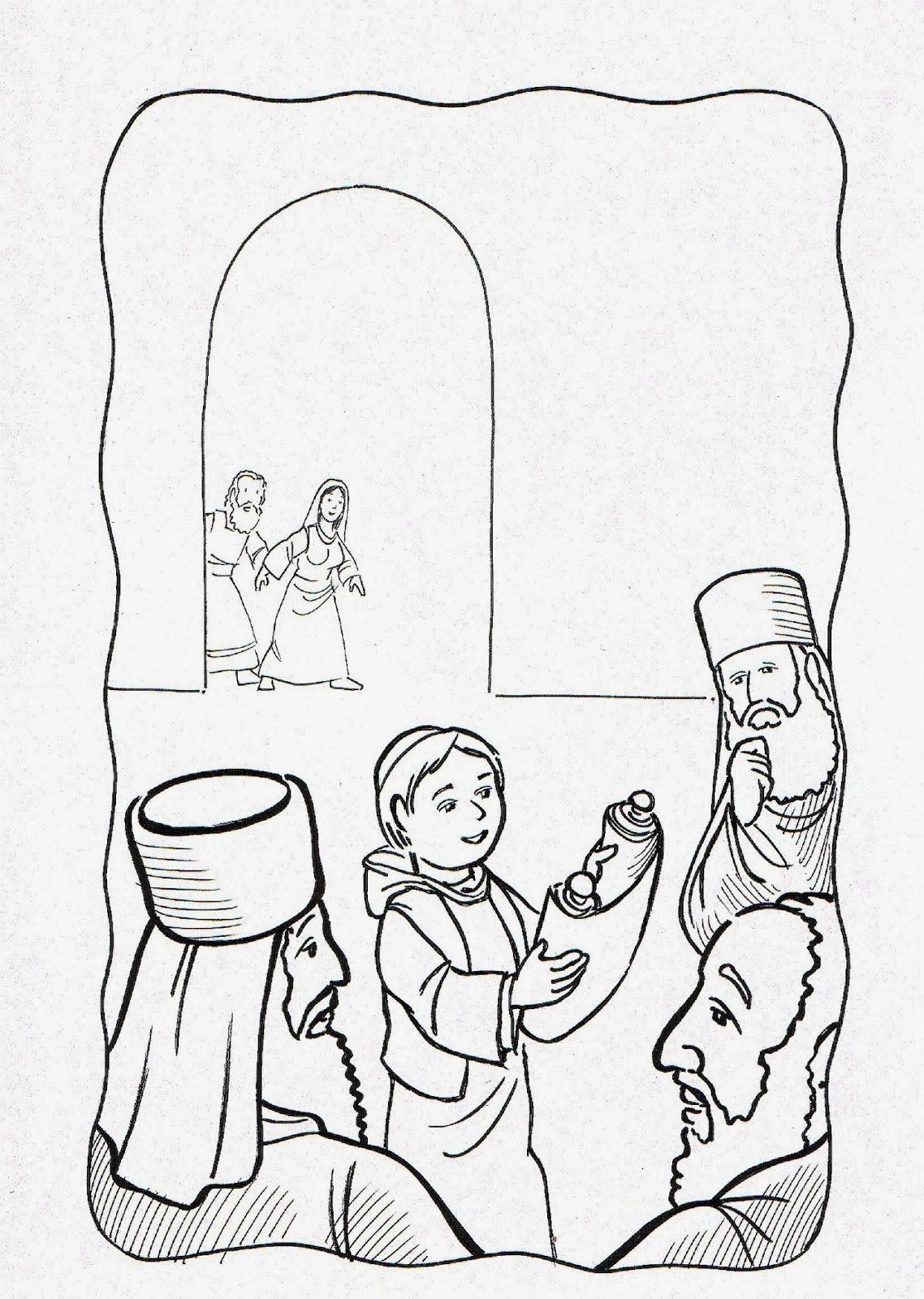 Imagenes Cristianas Para Colorear: Jesus En El Templo Para