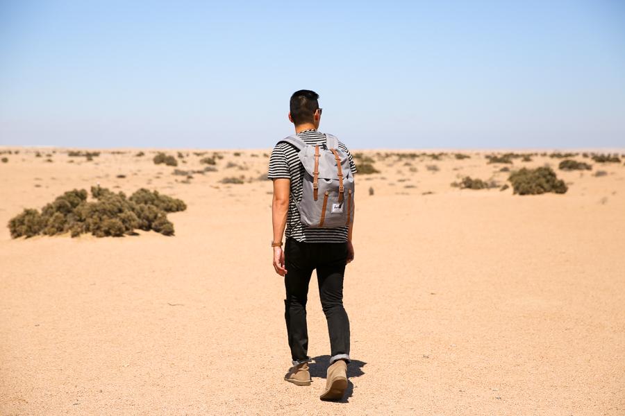 Levitate Style, Clarks Desert Boots, Clarks, Namibia, Travel, Leo Chan, menswear, Dune 7, Namib Desert