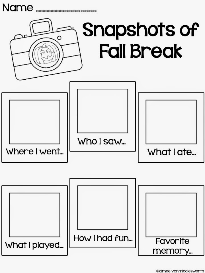 Pencils Books and Dirty Looks: Fall Break Freebie and a