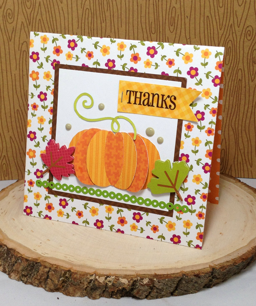Thanks Pumpkin Card by Christine Meyer Guest Designer for 17turtles Digital Cut Files