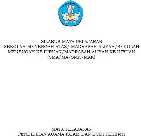 gambar cover Silabus Pendidikan Agama Islam dan Budi Pekerti SMA Kurikulum 2013