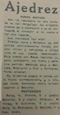 I Torneo Nacional de Ajedrez de Lérida 1948, recorte La Mañana, 15 de mayo de 1948