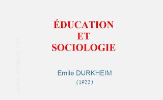 Education et Sociologie-Emile DURKHEIM