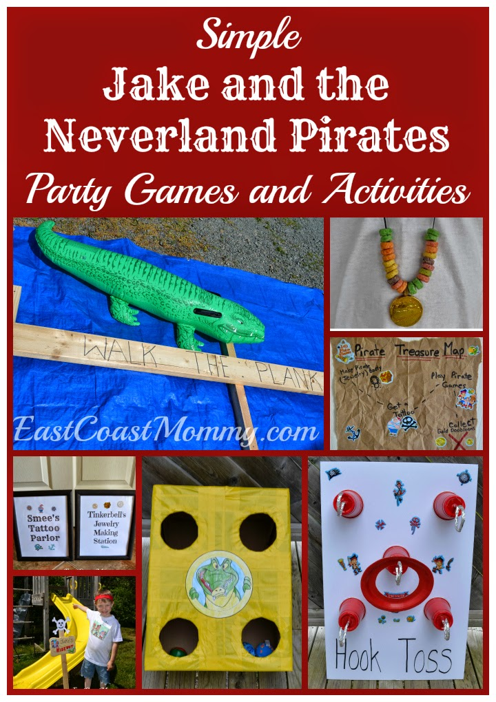 East Coast Mommy Jake And The Neverland Pirates Party Games Activities