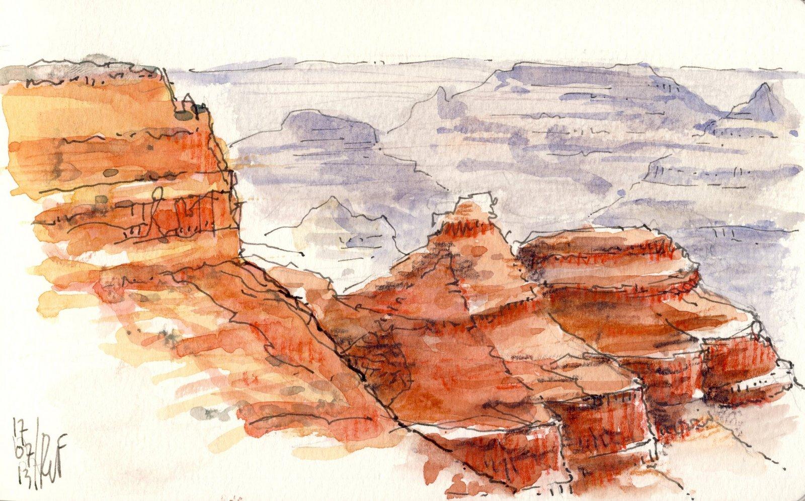 rene fijten sketches: Grand Canyon