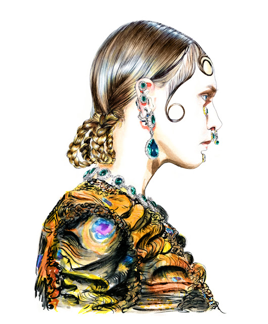 Illustration by Lidia Luna: Givenchy Fall Winter 2015
