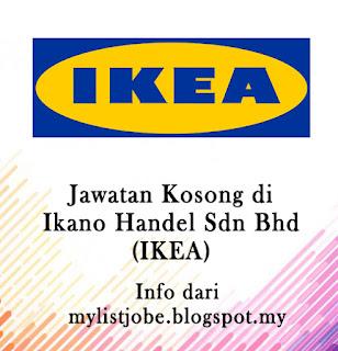 Jawatan Kosong Terkini di Ikano Handel Sdn Bhd (IKEA)