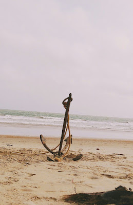 Anchor in the beach