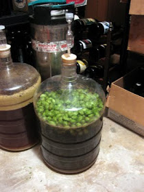 First time I've dry hopped with wet hops.