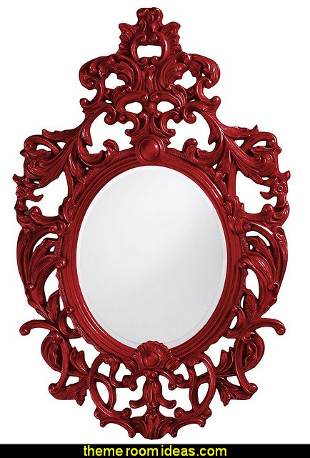 Dorsiere Mirror, Oval, Glossy Red