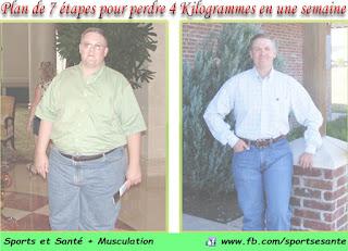 Plan de 7 étapes pour perdre 4 Kilogrammes en une semaine