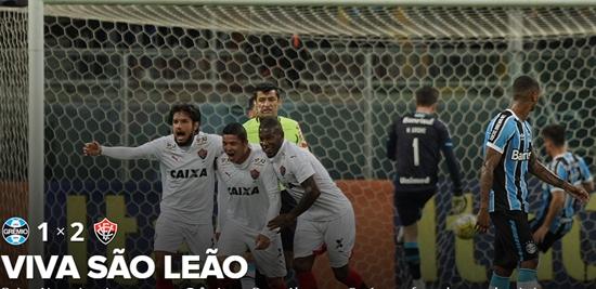 Vitória bate o Grêmio em seu primeiro triunfo fora de casa