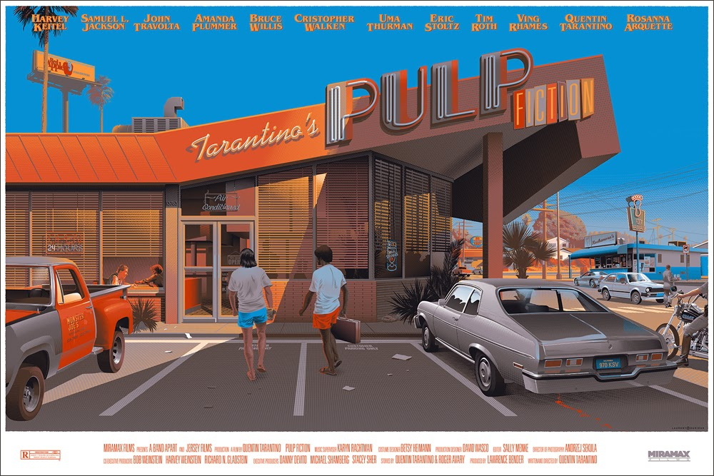 Black Friday Exclusive Pulp Fiction 20th Anniversary Screen Print by Laurent Durieux