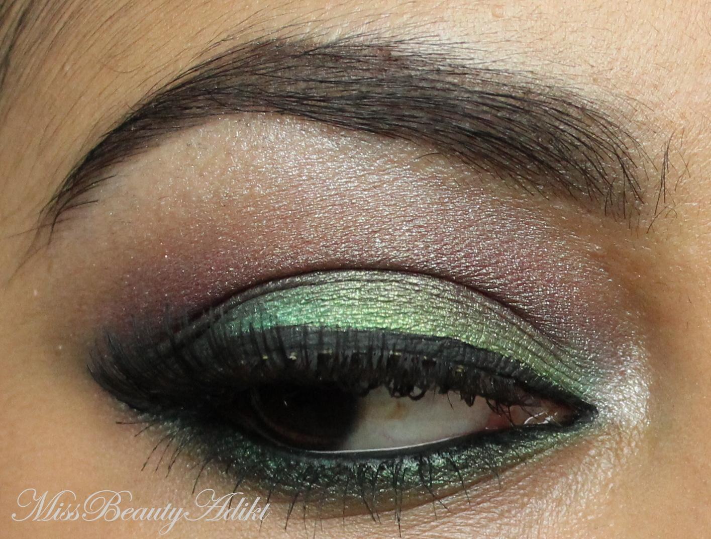 M I S S B E A U T Y A D I K T Green Red Smokey Eye Makeup