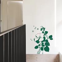 vinilo decorativo pared floral flor