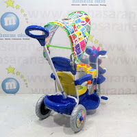 Royal RY8582C Baby Ball Double Music Baby Tricycle Blue