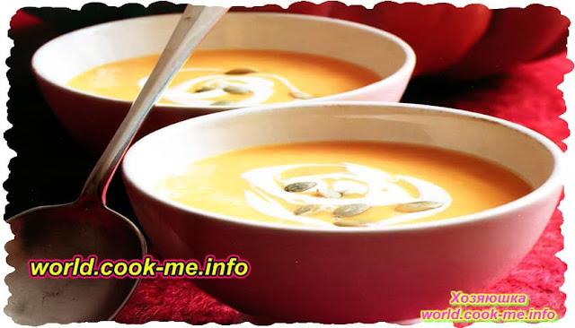 Осенний тыквенный крем-суп на молоке