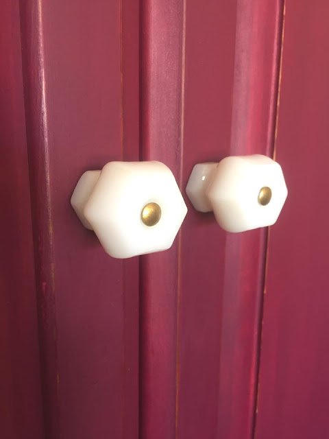 white milk glass knobs