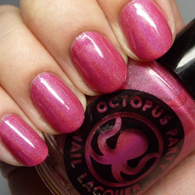 Octopus Party Nail Lacquer Razz Hands