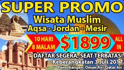 tour wisata muslim ke masjidil aqsha mesir dan jordan