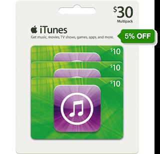 Combo 3x iTunes 10 dólares con descuento