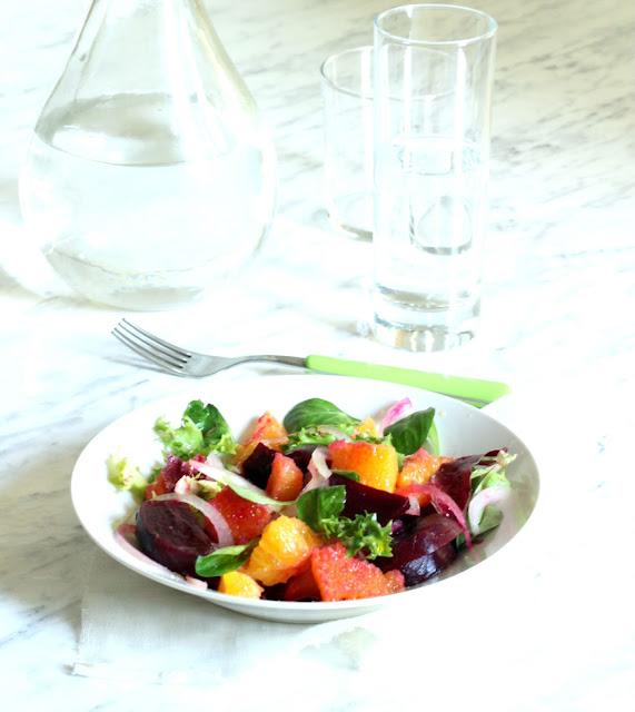 insalata barbabietole e arance