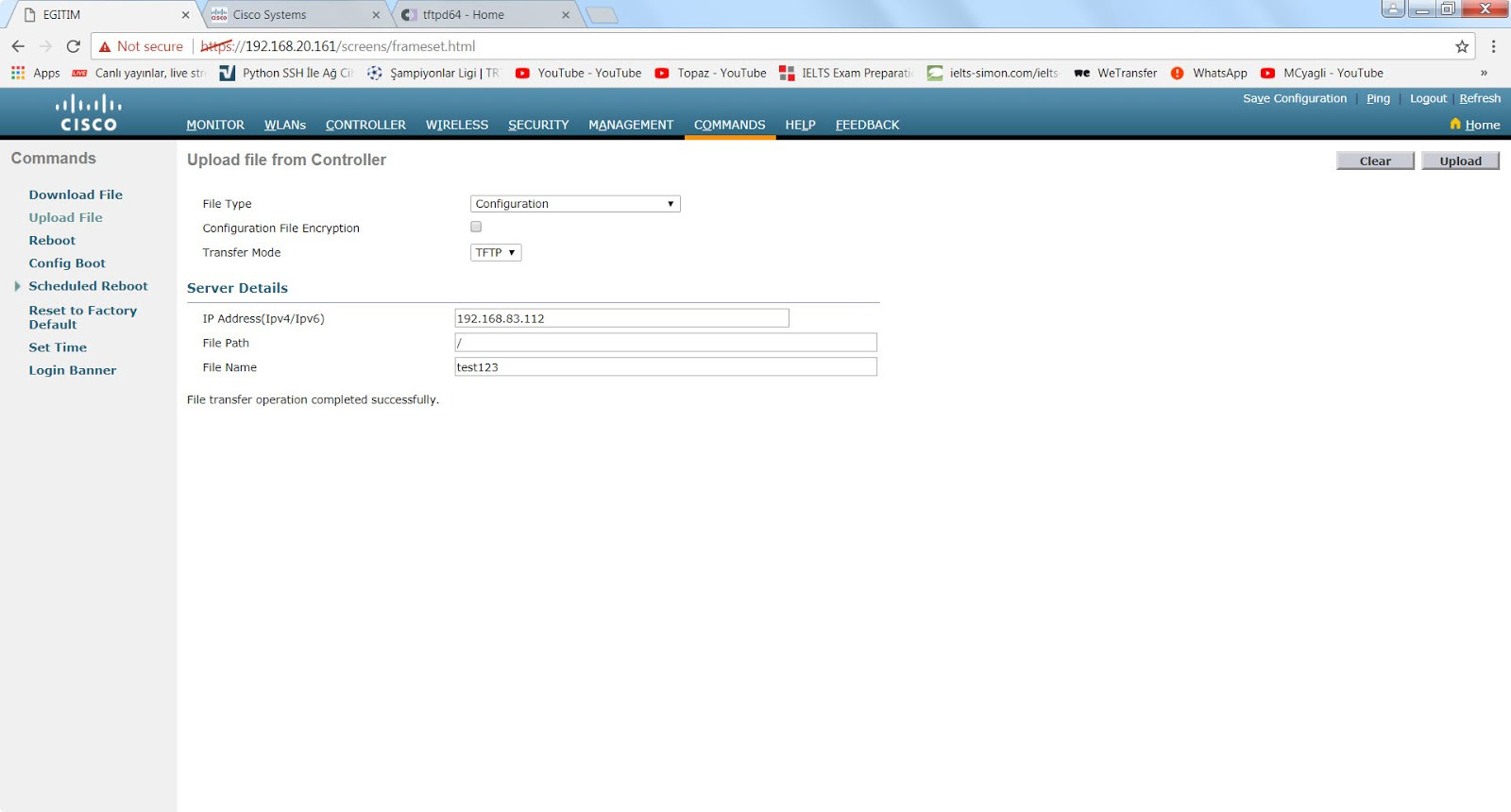 This is My Network Configuration Page and Please Feel Free