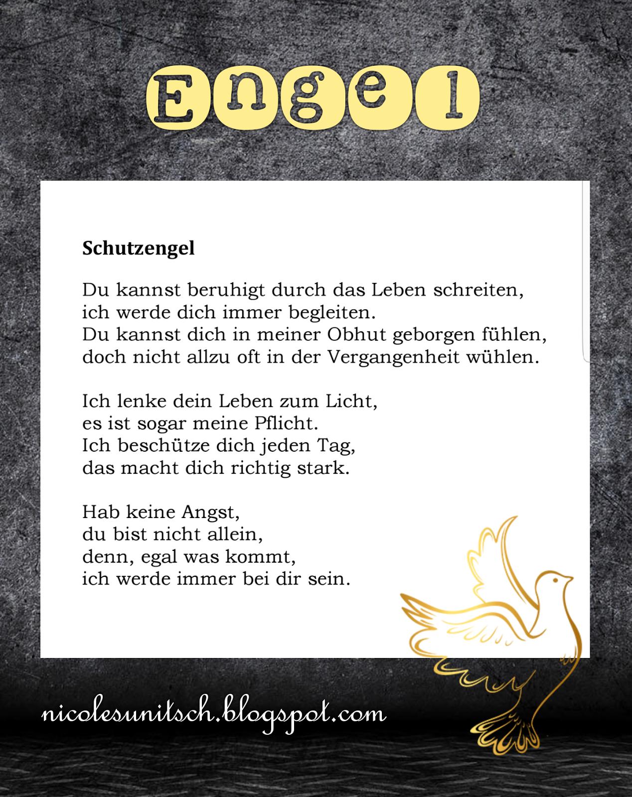 Fabelhaft Schutzengel Sprüche Das Beste Von - Gedicht Von Nicole Sunitsch Aus Dem
