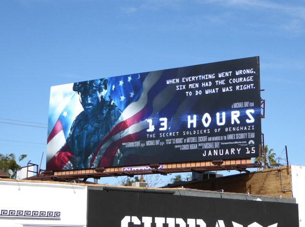 13 Hours Benghazi film billboard