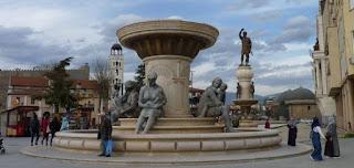 Estatuas del proyecto Skopje 2014.