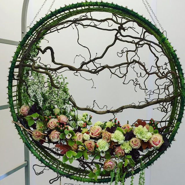 Flower arrangement from Chelsea Flower show