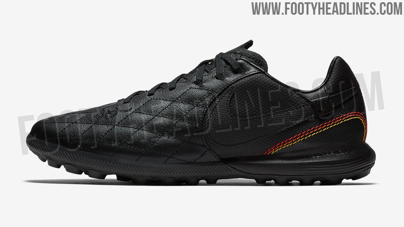 Black And Yellow Turf Shoes