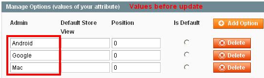 Add/Update Attribute Option Values Programmatically in