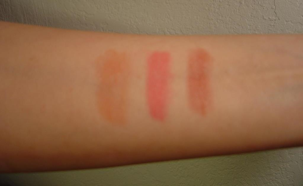 Mineral Fusion Sheer Moisture Lip Tints swatches