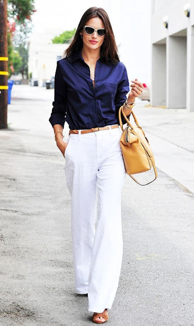Ladies White Pants Street Style Collection
