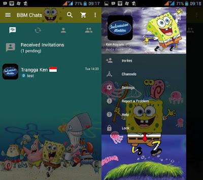 BBM Mod Spongebob 3.3.6.51 Full Apk Android Gratis