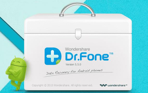 تطبيق dr fone لإستعادة الملفات المحذوفة