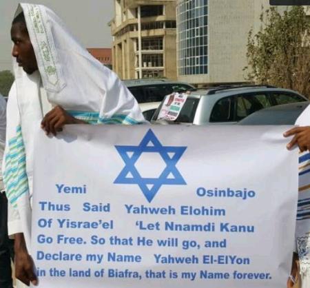 igbo jews protest nnamdi kanu