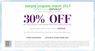 free Lane Bryant coupons march 2017
