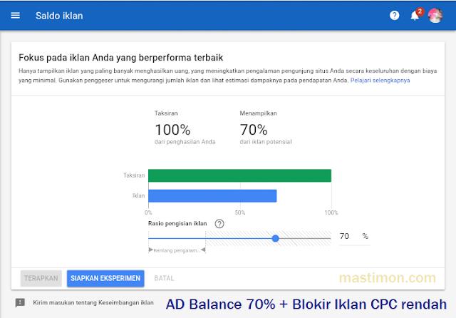 AD Balance Adsense terbaik 2019 untuk meningkatkan CPC dan CTR