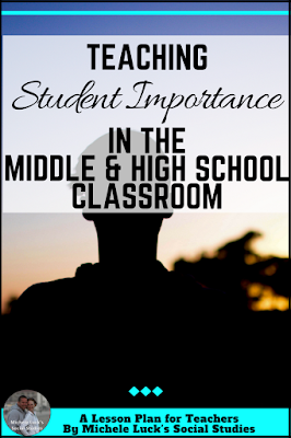 What are the most important lessons we can teach our middle and high school students? Here are a few tips for teaching them their own importance and significance, as well as their responsibilities in this ever-changing world! #teachers