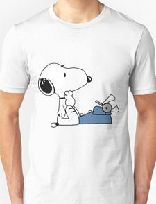 Snoopy sat at a typewriter T-shirt